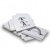 Tarjetas de visita con stamping plata