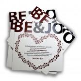 Invitaciones de boda 148 con UVI