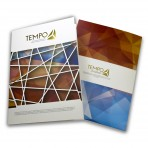 Gold Stamping A4 Presentation Folders single sided