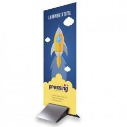 Gráfica Pegasus + Peana Aluminio 70x200
