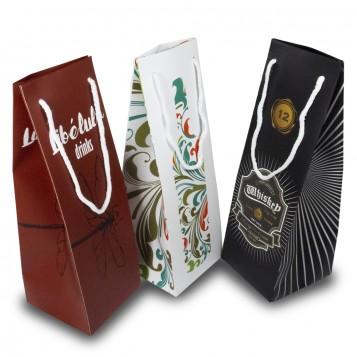 Bolsas Porta Botellas Estándar laminado brillo