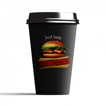 Taza personalizada take away negra