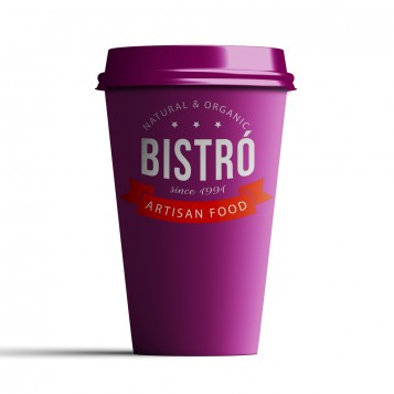 Taza personalizada take away fucsia