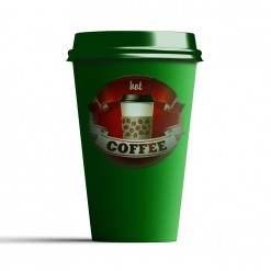 Taza personalizada take away verde