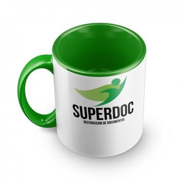Taza personalizada deluxe verde