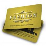 Tarjetas de PVC en color base oro