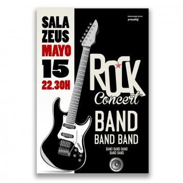 Poster A4 tinta blanca