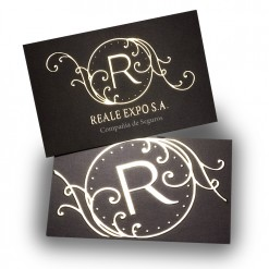 Gold Stamping Business cards double sided