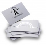 Silver Stamping Business cards double sided