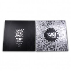 Silver Stamping Postcard double sided