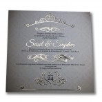 Gold Stamping Wedding Invitation 148 single sided