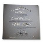Invitación de Boda 148 con Stamping Oro 1 cara