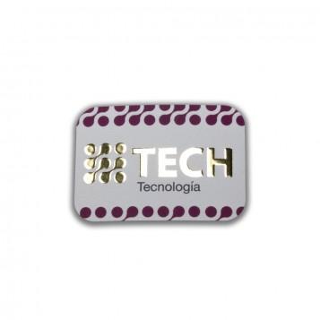 Adhesivos Rectangulares A9 con Stamping Oro